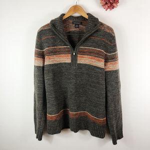 [BANANA REPUBLIC] Zip Up Merino Wool Sweater